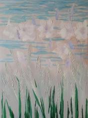 Tissue collage over original: work in progress
